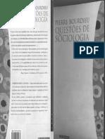 BOURDIEU, Pierre - Questões de Sociologia