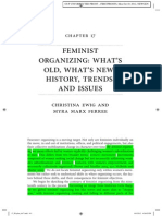 Feminist Organizing - What's Old, What's New, History, Trends, And Issues