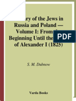 Dubnow, S. M. - History of the Jews in Russia and Poland From the Earliest Times Until the Present Day, Vol. 1