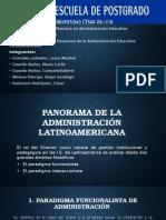 Panorama de La Administracion Latinoamericana