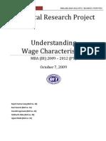 Understanding Wage Characteristics