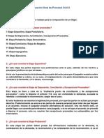 Guía de Estudio Para Evaluación Final de Procesal Civil II