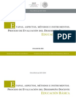 Etapas Aspectos Metodos Instrumentos Evaluacion Permanencia Eb