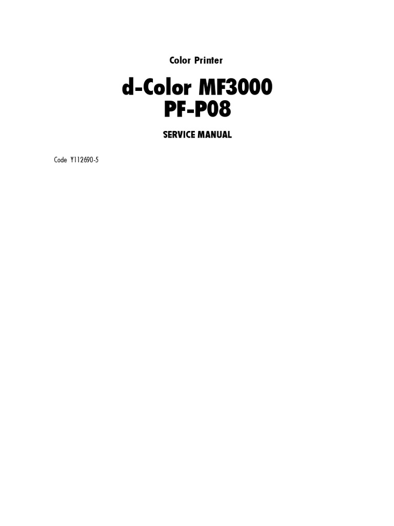 MF3000 PF-P08 Service Manual | Electrical Connector | Ac Power Plugs And  Sockets