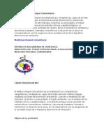 Perfil de Medico Integral Comunitario