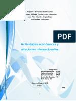 Actividades Economicas y Relaciones Internacionales