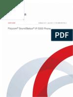 Polycom SoundStation IP 5000 User Guide UCS 4.0.1