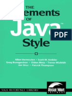 The Elements Of java