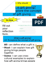 1  what is gift giving