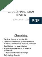 snc 1d exam review