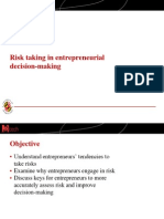 Risk Taking in Entrepreneurial Decision-making (Slides)
