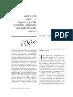 A Madness for Identity & Consumer Autonomy