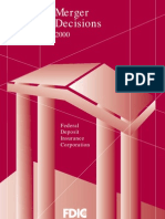 2000 FDIC Annual Mergers Report to Congress