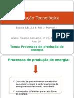 Trabalho de Educação Tecnológica Ricardo Bernardo
