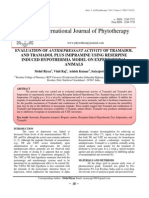 EVALUATION OF ANTIDEPRESSANT ACTIVITY OF TRAMADOL AND TRAMADOL PLUS IMIPRAMINE USING RESERPINE INDUCED HYPOTHERMIA MODEL ON EXPERIMENTAL ANIMALS