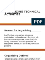 Organizing Technical Activities