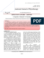 EFFECTS OF CANNABIS – A REVIEW