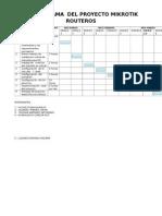 Cronograma Del Proyecto Mikrotik Routeros