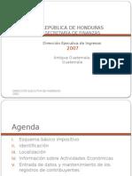 El Registro de Contribuyentes Localizacion -Honduras
