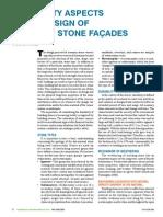 Durability Aspects of Masonry Stone Facades