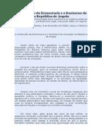 A Construção Da Democracia e o Fenómeno Da Corrupção Na República de Angola