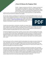 Consejos Generales Para El Diseno De Paginas Web