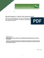 Regul.acessos Propriedades MarginaisRodoviasEstaduais-PR (Anexo III_Decreto 140_13.01.2015)