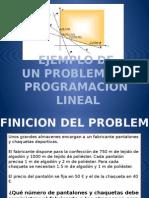 Ejemplo de Un Problema de Programacion No Lineal