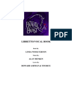 Beauty and the Beast Libretto Vocal Book