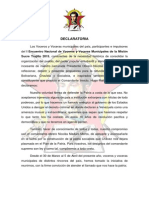DECLARATORIA y Documento Final Trujillo 2015