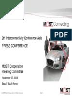 20081105 MOSTCO ICA Press Conference