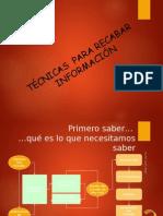 Tecnicas Para Recabar Informacion