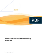 Research Interviewer Policy Manual