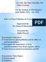Effect of Plant Pollution on Neurotransmitters