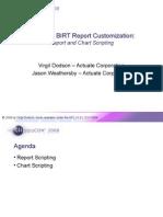 BIRT Advanced Scripting EclipseCon 2008