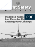 Stabilized Approach and Flare Are Keys to Avoiding Hard Landings
