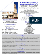 St. Peter the Apostle Bulletin June 14, 2015