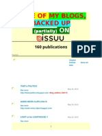 a LIST of SOME of MY BLOGS BACKED UP ON ISSUU