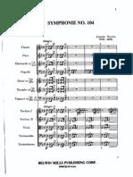 Haydn - Symphony No.104 Mvt.I and II Kalmus Reprint