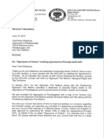Wolf Lake-Eagle Village Algonquins to Chief K Whiteduck_June 12 2015