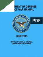 Law of War Manual June 2015