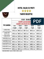 Tarife Receptie 2015 Vara