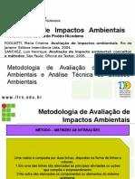 Aula 05- Metodologia de AIA e Analise Tec de Estudos Ambientais