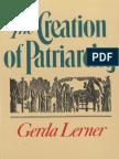 Lerner, Gerda -The Creation of Patriarchy (Women & History) 1987