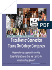 Forming a College-Based Tutor/Mentor Connection