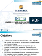 3311 Selección y Legislación Laboral Con Énfasis en Turismo