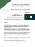 Legge Vaticano 30 Dic 2010