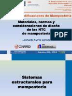 01 Materiales, Normas y Consideraciones de Disenio de Las NTC de Mamposteria