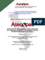 Proyecto de Legalizacion y Regularizacion Del Comercio de Musica y Peliculas a Traves de Medios Digitales CD s y Dvd s