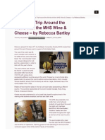 Sample Article - MHS Wine and Cheese
